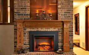 distressed brick fireplace with hearth stovers