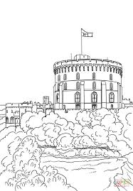 windsor castle coloring free printable coloring pages