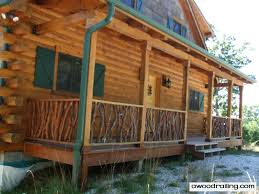 Home Handrails Log Home Handrail Best Rustic Railing For Your Log Home