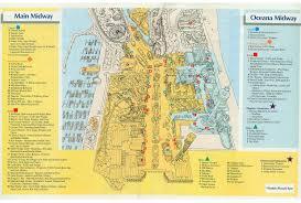 Cedar Fair Parks Map 1989 Cedar Point Brochure U0026 Park Guide