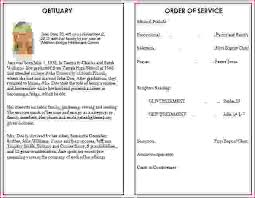 Funeral Ceremony Program 6 Funeral Programs Examplesagenda Template Sample Agenda