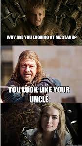 Your Moms Chest Hair Meme - why are you looking at me stark you look like your uncle game of