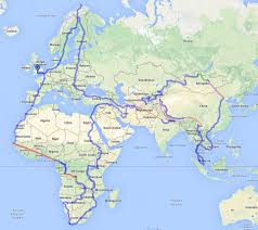 Map Of Africa And Europe by Charlie Walker Finishes Four Year Bike Journey After Riding 43k