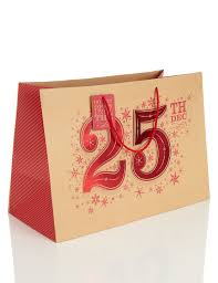 extra large kraft christmas gift bag m u0026s