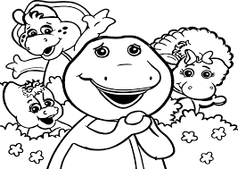 barney friends coloring page wecoloringpage