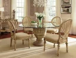 glass round dining table for 6 foter