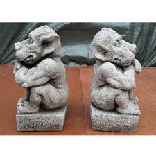 guardian gargoyles garden ornament pillars onefold uk