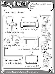 place prepositions worksheet 3 b u0026w version inglés