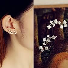 diamond ear cuff top quality aaa cz diamond ear cuff earrings for women 18k