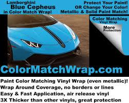 Paint Color Match by Lamborghini Blu Cepheus Vinyl Wrap Color Match Wrap U2013 Colorx
