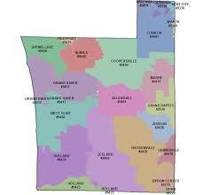 area code map of michigan ottawa county gis mapping
