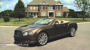 bentley continental gtc road test 2014 bentley continental gt speed convertible youtube