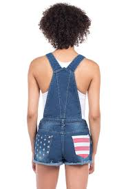 American Flag Jean Shorts Men Women U0027s Denim American Flag Overalls Tipsy Elves