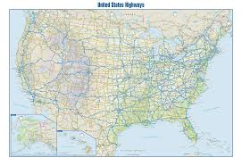 map us interstate system interstate map by turner