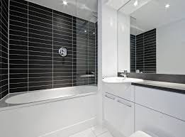 printed bath u0026 shower panel black tiled effect bathroom tile