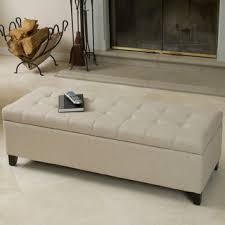 linen storage ottoman bench baxton studio solippa upholstered storage linen blue grey ottoman