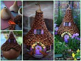 pine cone decoration ideas diy gourd pine cone fairy house kids pine cone craft