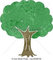 retro tree retro illustration on plain vector