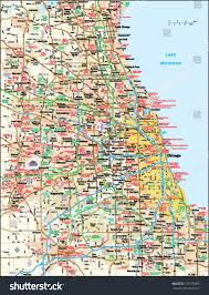 Map Illinois by Chicago Illinois Area Map Stock Vector 139178096 Shutterstock