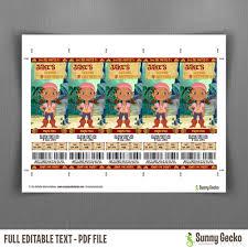 Winnie The Pooh Invitation Cards Jake And The Neverland Pirates Birthday Ticket Invitations