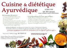 stage cuisine et diététique ayurvédique balayoga
