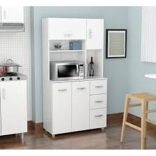 Furniture Kitchen Storage Inval Modern Laricina White Kitchen Storage Cabinet Walmart