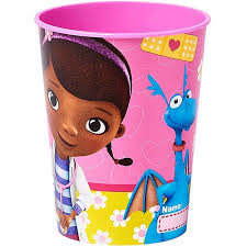 doc mcstuffins 16 oz plastic party cup party supplies walmart