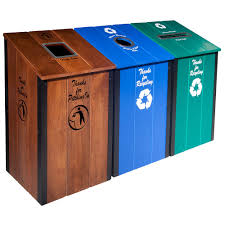 shop recycling bins at lowes com 3 bin recycle trash can 47 ooferto