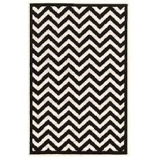 linon home decor rugs linon home decor capri chevron black white 4 ft 3 in x 7 ft 3 in