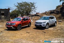 renault duster 2017 hyundai creta vs renault duster shootout motorbeam indian