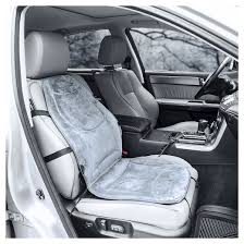 wagan soft velour 12v heated seat cushion gray target