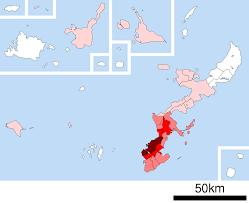 Population Density Map 2015 Population Density Map Of Municipalities Of Okinawa