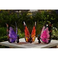 essential garden solar butterfly purple outdoor living