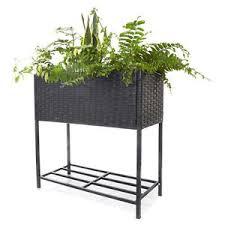 Wicker Beds Wicker Raised Garden Bed Outdoor Planter Vegetable Pe Rattan
