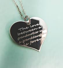 grandmother and granddaughter necklaces between a grandmother and a granddaughter is forever engraved