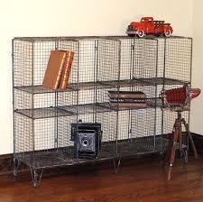 Industrial Metal Bookshelf Industrial Metal Wire Shelf And Cage Light Hudson Goods Blog