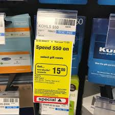 gift card deals black friday kohl u0027s gift card deal get 15 in rewards back southern savers
