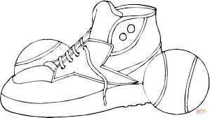 tennis shoes coloring page free printable coloring pages