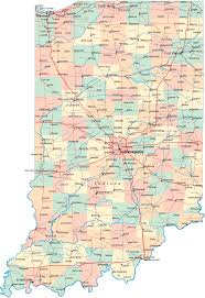 Virginia Map With Cities Indiana Map