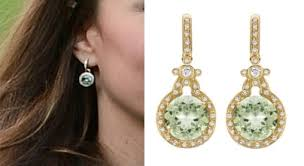 green amethyst earrings duchess green amethyst diamond earrings archives what kate wore