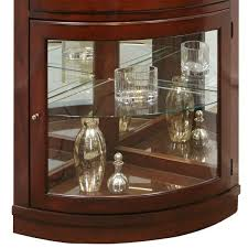 Discount Corner Curio Cabinet Amazon Com Pulaski Corner Curio 34 By 23 By 78 Inch Dark Brown