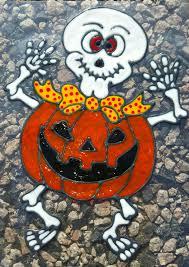 window clings halloween skeleton pumpkin halloween stained glass window cling