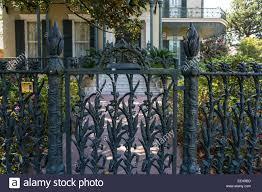 french quarter new orleans louisiana cast iron cornstalk fence