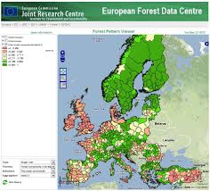 European Time Zone Map by Reporting On European Forest Fragmentation Standardized Indices