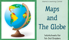globe and maps worksheet learn the continents free printable mamas learning corner