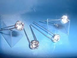 decorative hair pins diamante hair pin card