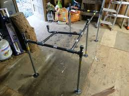 A Frame Computer Desk by Made A Pipe Desk With A Computer Platform I U0027m A Total Beginner