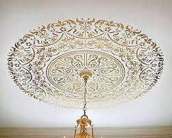 Stencils For Home Decor Ceiling Stencil Medallion Elegant Classical Stencils For Home Decor