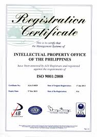 ipophl is iso 9001 2008 certified