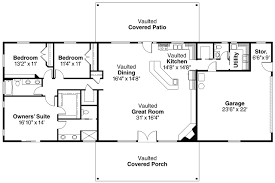 single level house plans open floor plan one noticeable simple